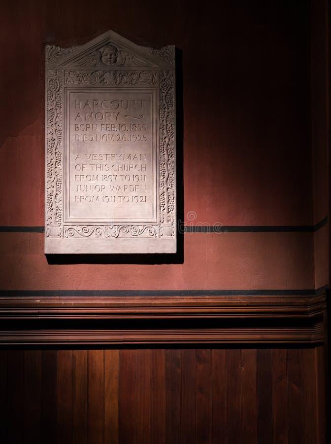 Iglesia de la trinidad de Boston imagen de archivo libre de regalías