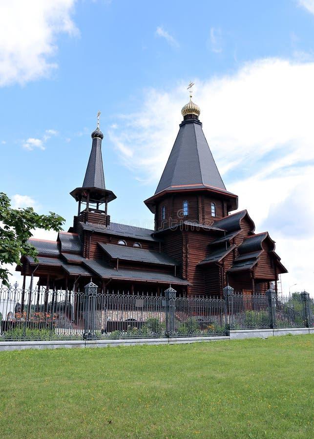 Iglesia de la trinidad de madera en Minsk imagen de archivo libre de regalías