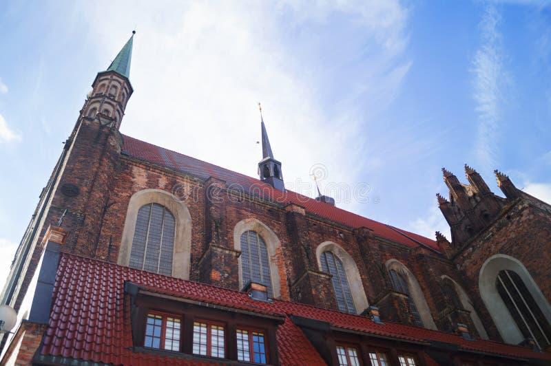 Iglesia de la trinidad santa en Gdansk imagen de archivo libre de regalías