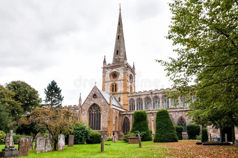 Iglesia de la trinidad santa en Stratford-Sobre-Avon foto de archivo libre de regalías