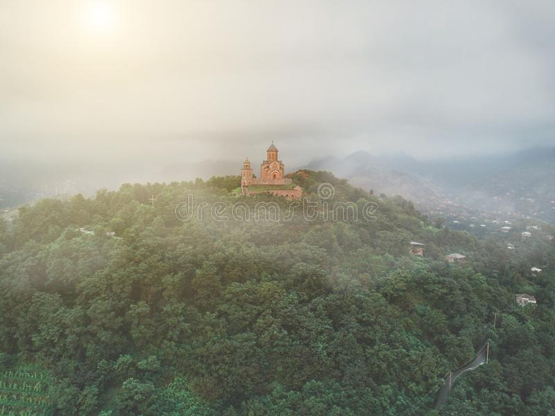 Iglesia de la trinidad santa de Sameba imagen de archivo