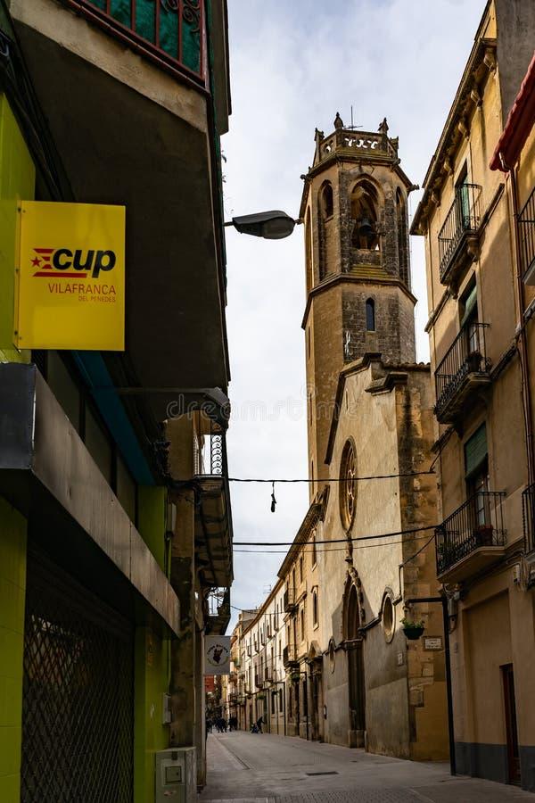 Iglesia de la Trinitat church in Vilafranca del Penedes, Catalonia, Spain royalty free stock images