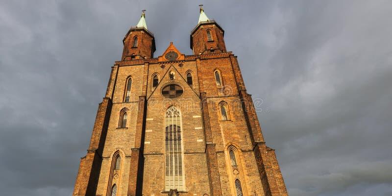 Iglesia de la Virgen María en Legnica fotografía de archivo libre de regalías