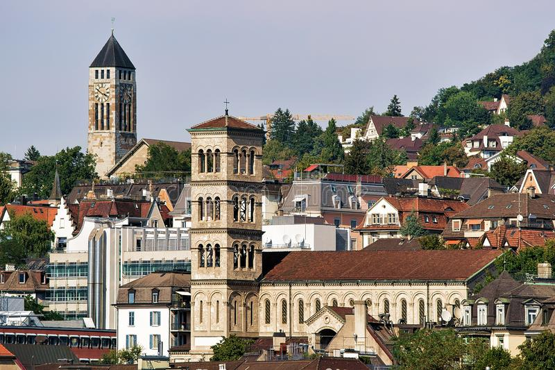 Iglesia de Liebfrauen en Zurich foto de archivo libre de regalías