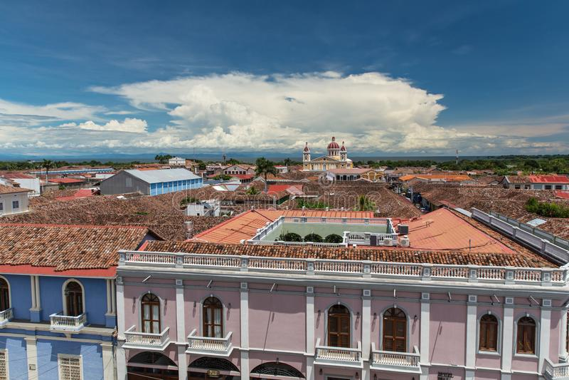 Iglesia De Los angeles Merced, Granada, Nikaragua zdjęcia stock