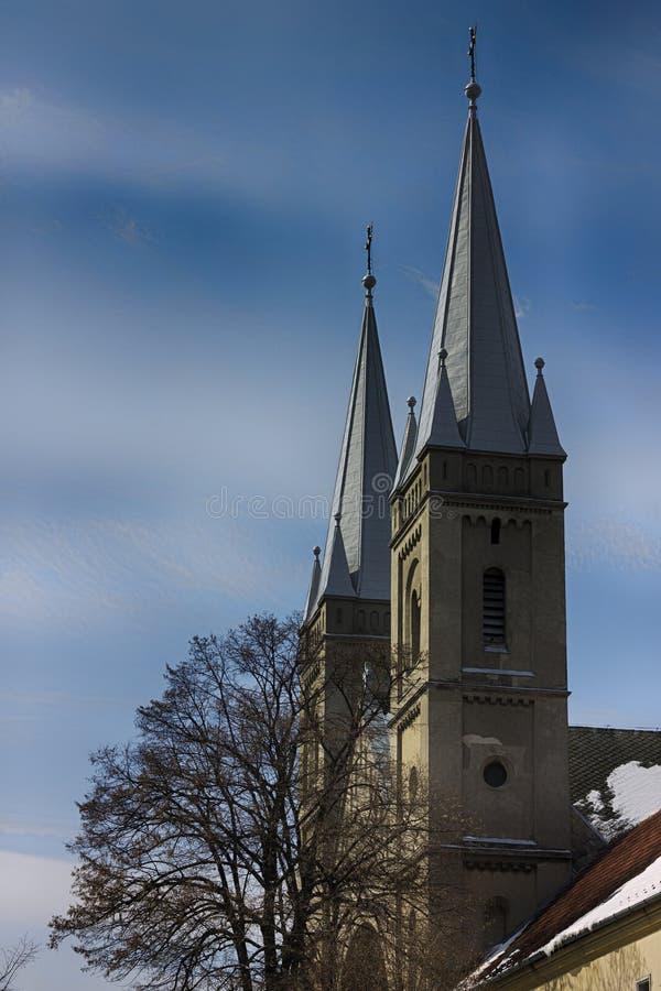 Iglesia de los detalles en Subotica foto de archivo