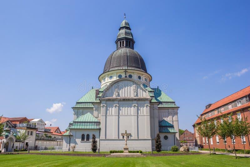 Iglesia de los Dom de Emsland en el centro de Haren imagen de archivo