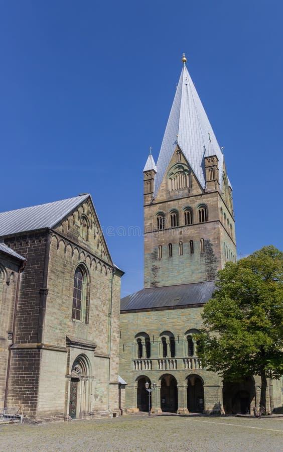 Iglesia de los Dom en el cuadrado central de Soest imagen de archivo