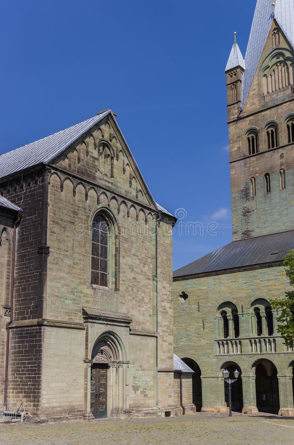 Iglesia de los Dom en el cuadrado central de Soest fotografía de archivo libre de regalías
