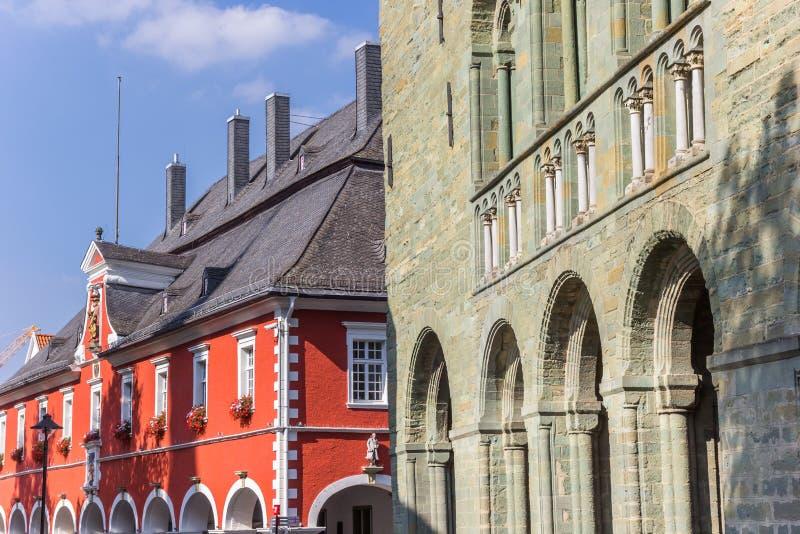 Iglesia de los Dom y ayuntamiento en Soest fotografía de archivo libre de regalías
