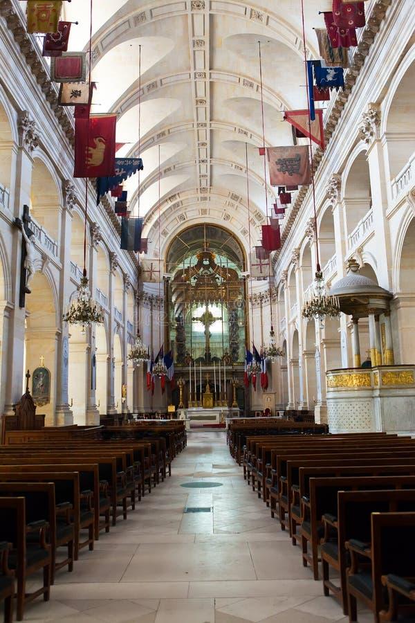 Iglesia de los invalides del DES del hotel adentro. París, fotos de archivo