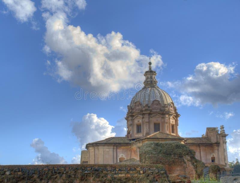 Iglesia de los santos Luca y Martina en HDR fotografía de archivo