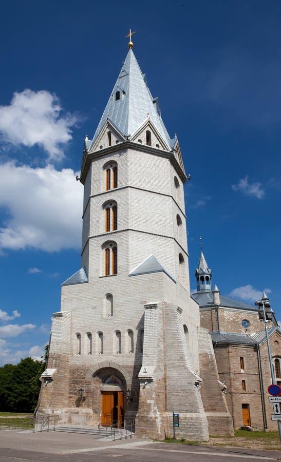 Iglesia de Lutheran de Alexander en Narva, Estonia imagen de archivo