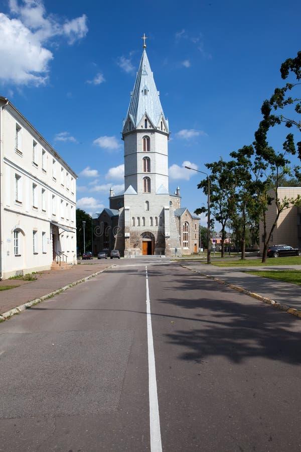 Iglesia de Lutheran de Alexander en Narva, Estonia fotografía de archivo libre de regalías