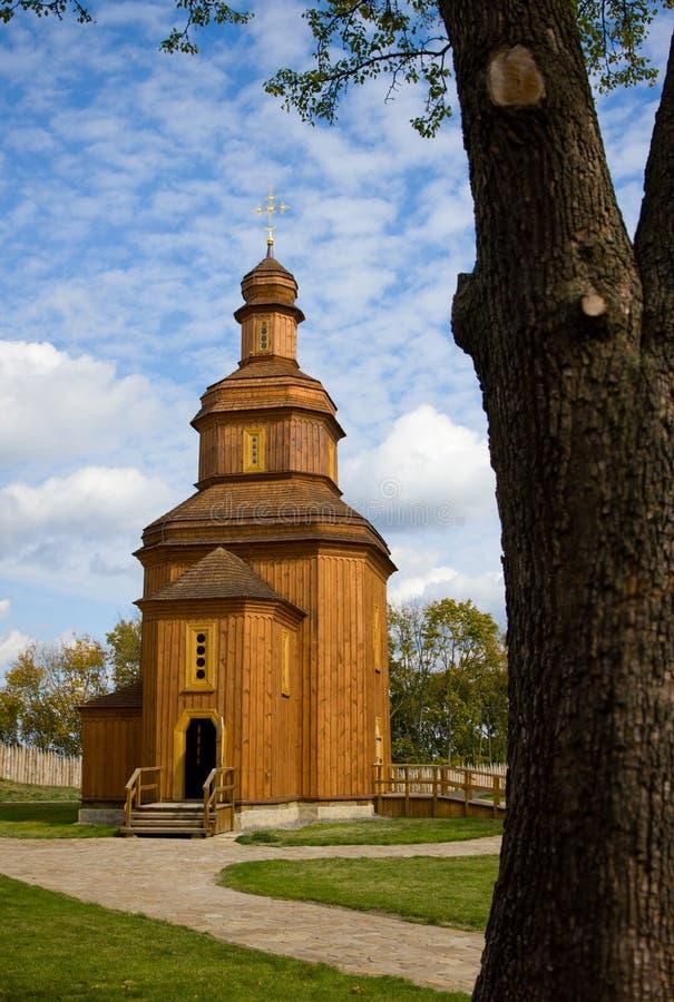 Iglesia de madera antigua imagen de archivo