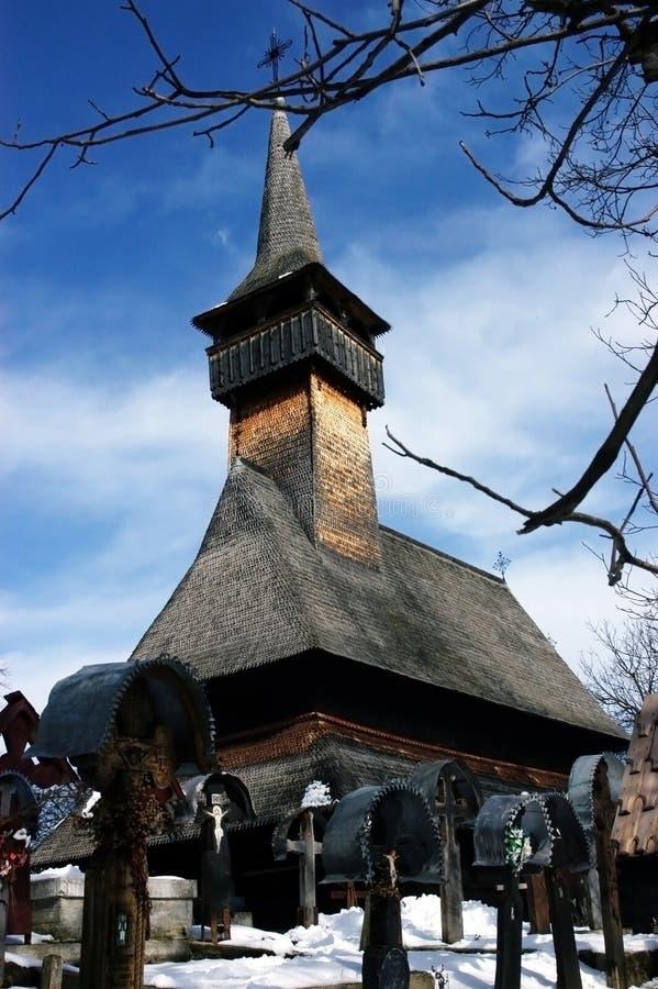 Iglesia de madera de Ieud, Maramures, Rumania fotos de archivo libres de regalías