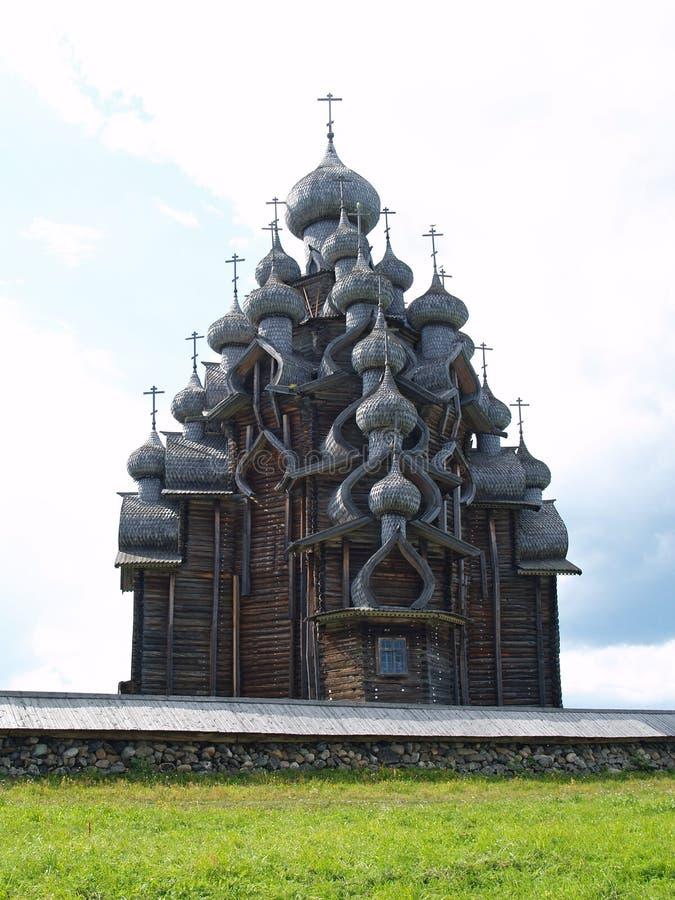 Iglesia de madera en Kizhi fotos de archivo