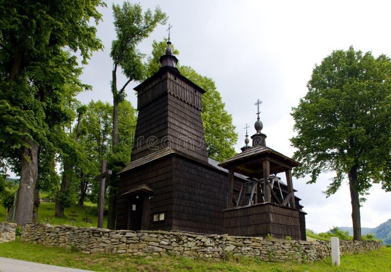 iglesia de madera, Leluchow, Polonia foto de archivo