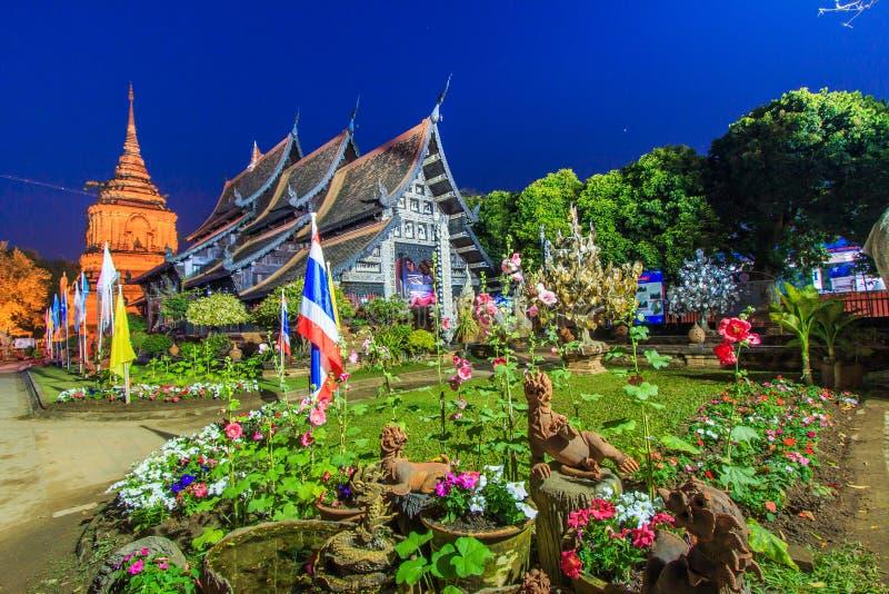 Iglesia de madera vieja en Wat Lok Molee fotografía de archivo