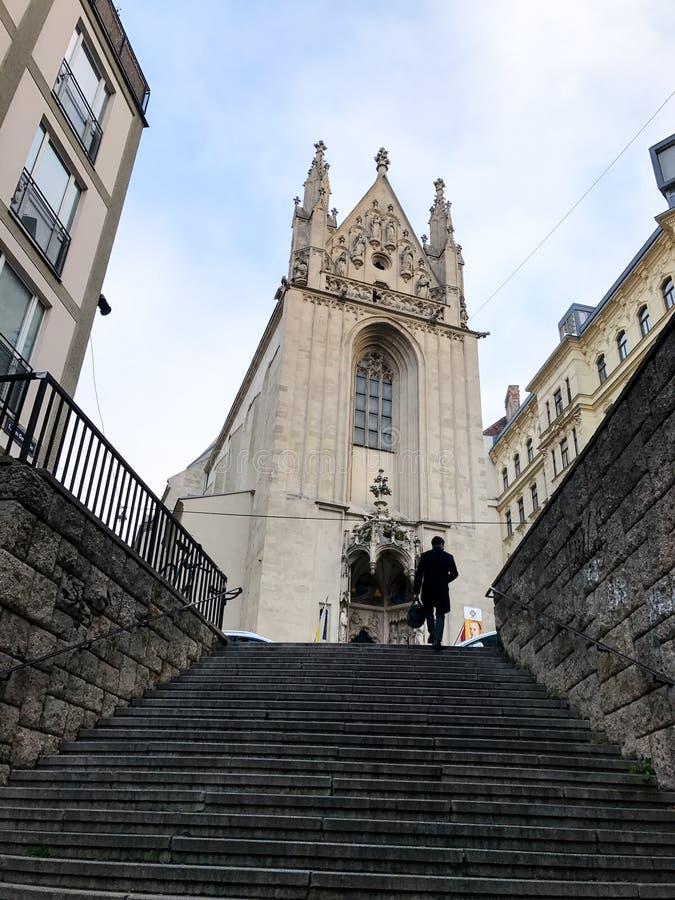 Iglesia de Maria Gestade en Viena, Austria fotos de archivo