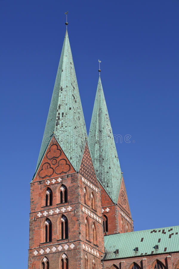 Iglesia de Marien de Luebeck, Alemania fotos de archivo libres de regalías