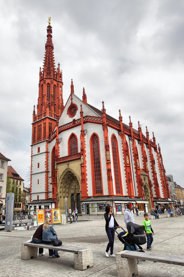 Iglesia de Marienkapelle en Wurzburg foto de archivo libre de regalías