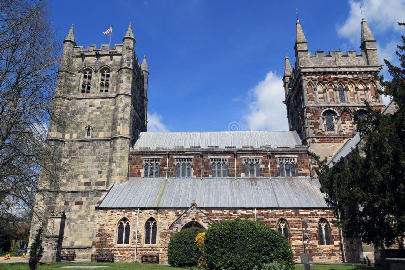 Iglesia de monasterio de Wimborne fotografía de archivo libre de regalías