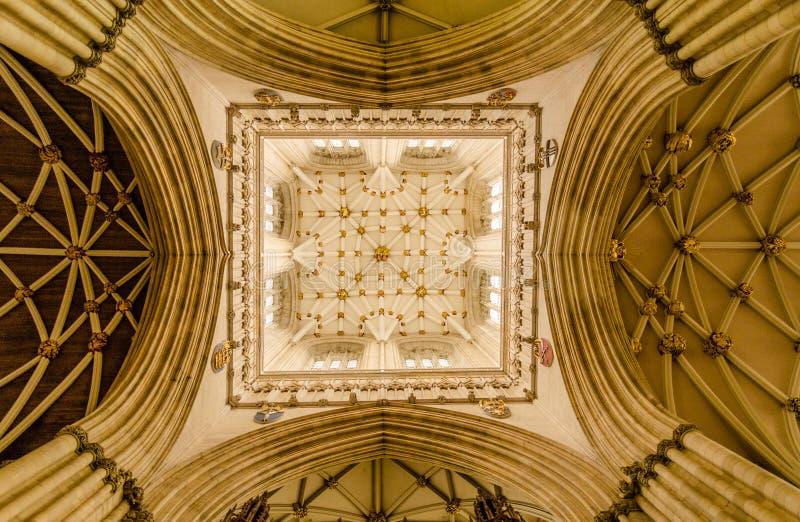Iglesia de monasterio de York en la ciudad de York, Yorkshire, Inglaterra foto de archivo libre de regalías