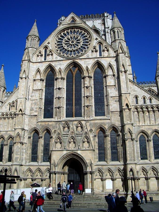 Iglesia de monasterio de York - exterior de la iglesia imagenes de archivo