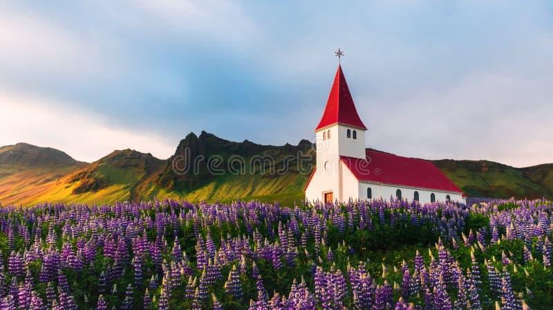 Iglesia de Myrdal imagenes de archivo