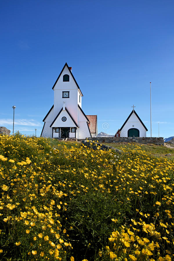 Iglesia de Nanortalik fotos de archivo
