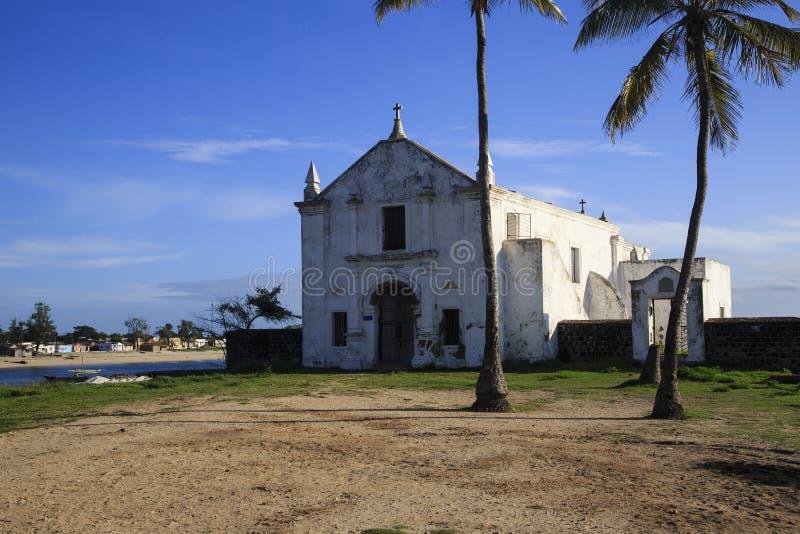Iglesia de NIO del ³ de Santo Antà - isla de Mozambique foto de archivo