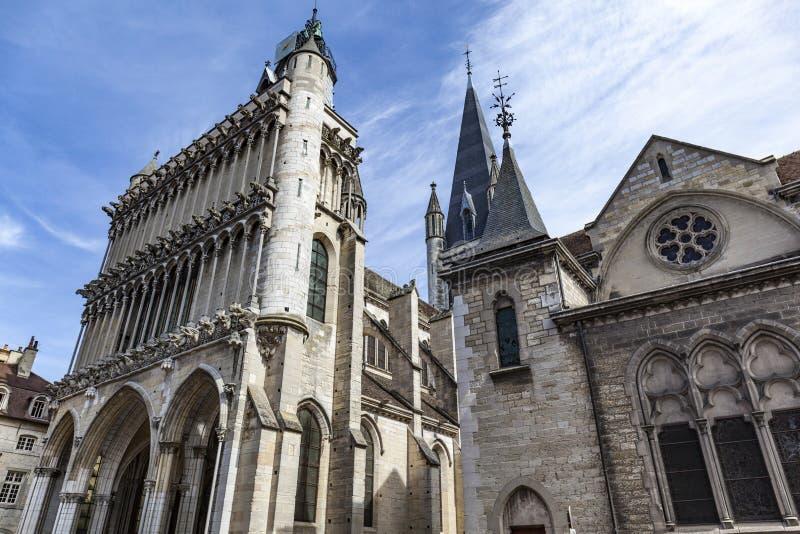 Iglesia de Notre Dame de Dijon imagenes de archivo
