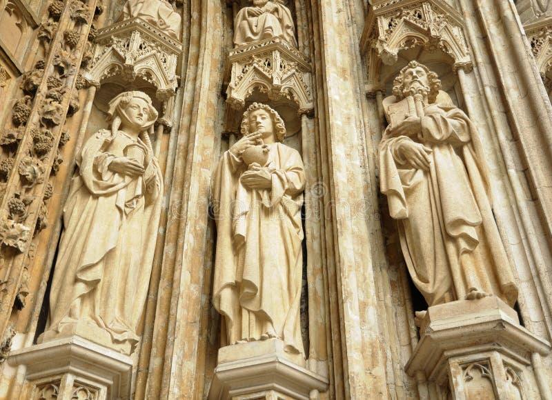 Iglesia de Notre-Dame du Sablon en Bruselas fotos de archivo libres de regalías