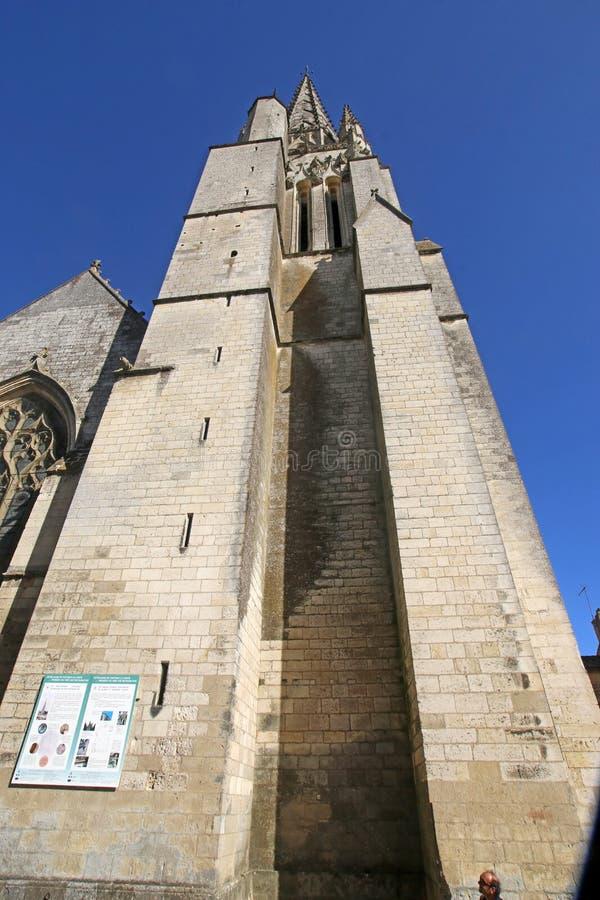 Iglesia de Notre Dame, Fontenay-le-Comte, Francia imágenes de archivo libres de regalías