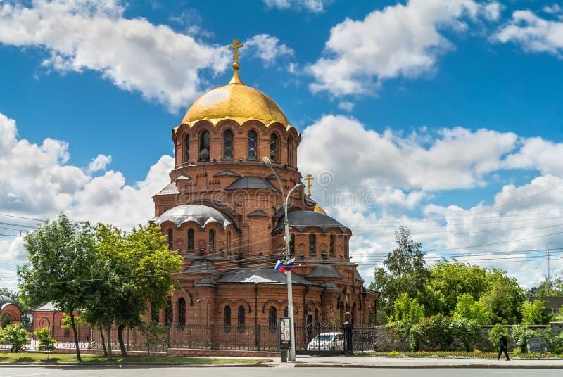 Iglesia de Novosibirsk Siberia Rusia Aleksander Nevsky fotografía de archivo