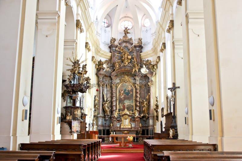 Iglesia de nuestra señora de las nieves, Rokycany fotografía de archivo