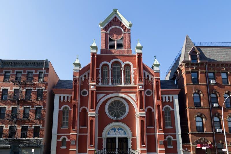 Iglesia de nuestra señora de los dolores, NYC imagen de archivo