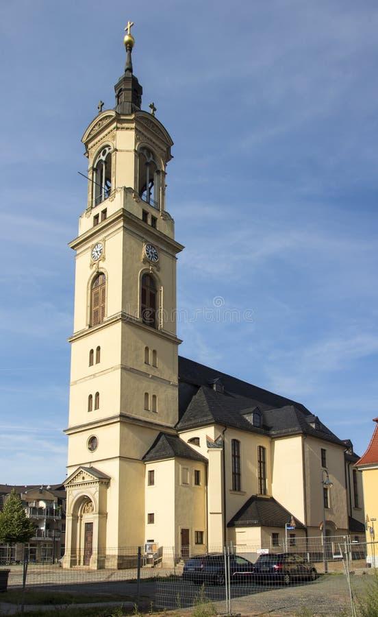 Iglesia de nuestra señora (Marienkirche) en Werdau, Alemania, 2015 fotos de archivo libres de regalías