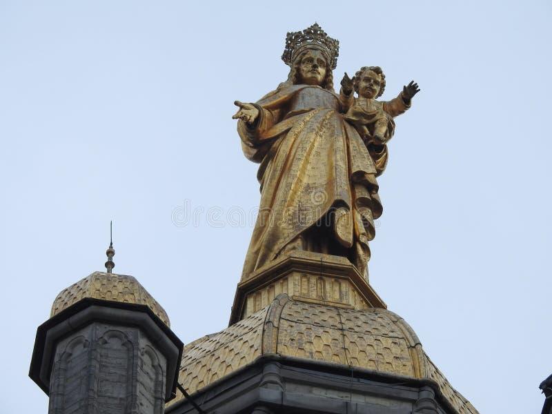 Iglesia de nuestra señora - StNiklaas - Bélgica imagen de archivo libre de regalías