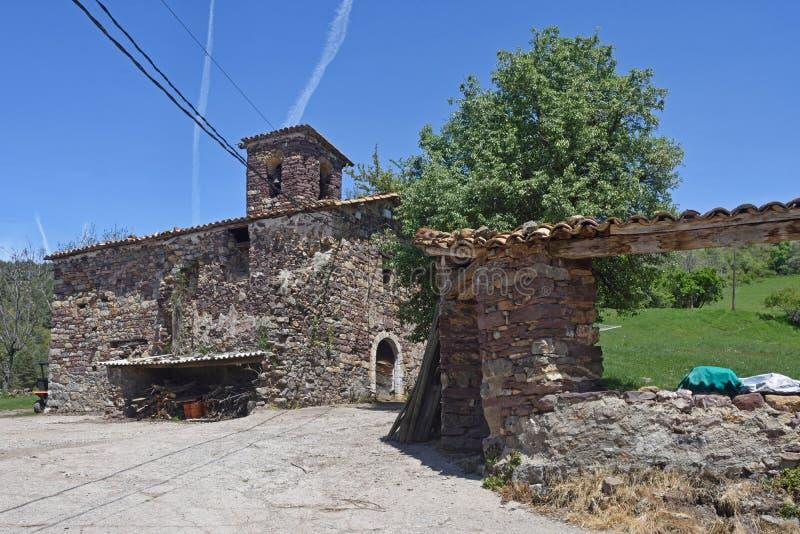 Iglesia de Nuestra Senora de la Asuncion, Piedrehita, Ribagorza, foto de archivo libre de regalías