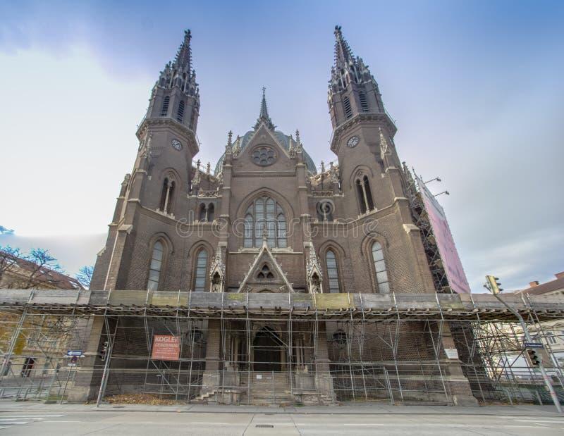 Iglesia de nuestro cerco del vom de señora Victorious Kirche Maria en Viena Austria foto de archivo