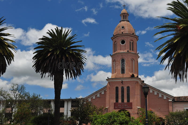 Iglesia de Otavalo fotografía de archivo