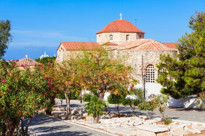 Iglesia de Panagia Ekatontapyliani, Paros foto de archivo libre de regalías