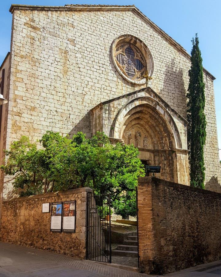 Iglesia de Peralada foto de archivo libre de regalías