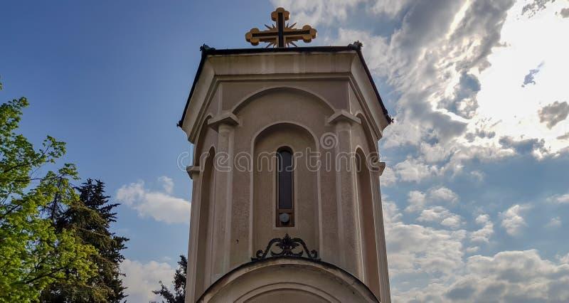 Iglesia de piedra vieja en Skopje, Macedonia en un d?a de verano hermoso imágenes de archivo libres de regalías