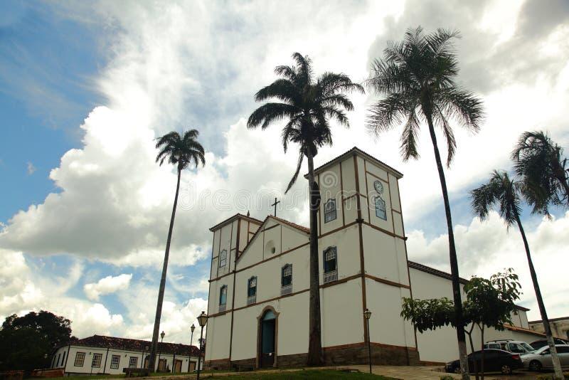 Iglesia de Pirenopolis en Goias el Brasil foto de archivo libre de regalías