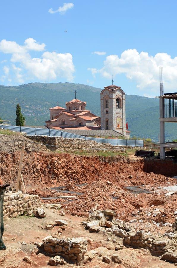 Iglesia de Plaosnik en Ohrid, Macedonia imágenes de archivo libres de regalías