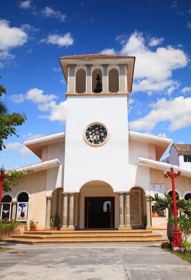 Iglesia de Puerto Morelos fotos de archivo