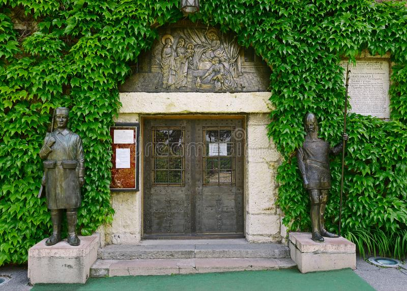 Iglesia de Ruzica, fortaleza de Belgrado, Belgrado, Serbia foto de archivo